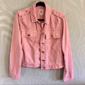 2e3e9987c4d56 GAP Jackets & Coats - NWT Gap Tencel Icon Utility Jacket Light Pink M